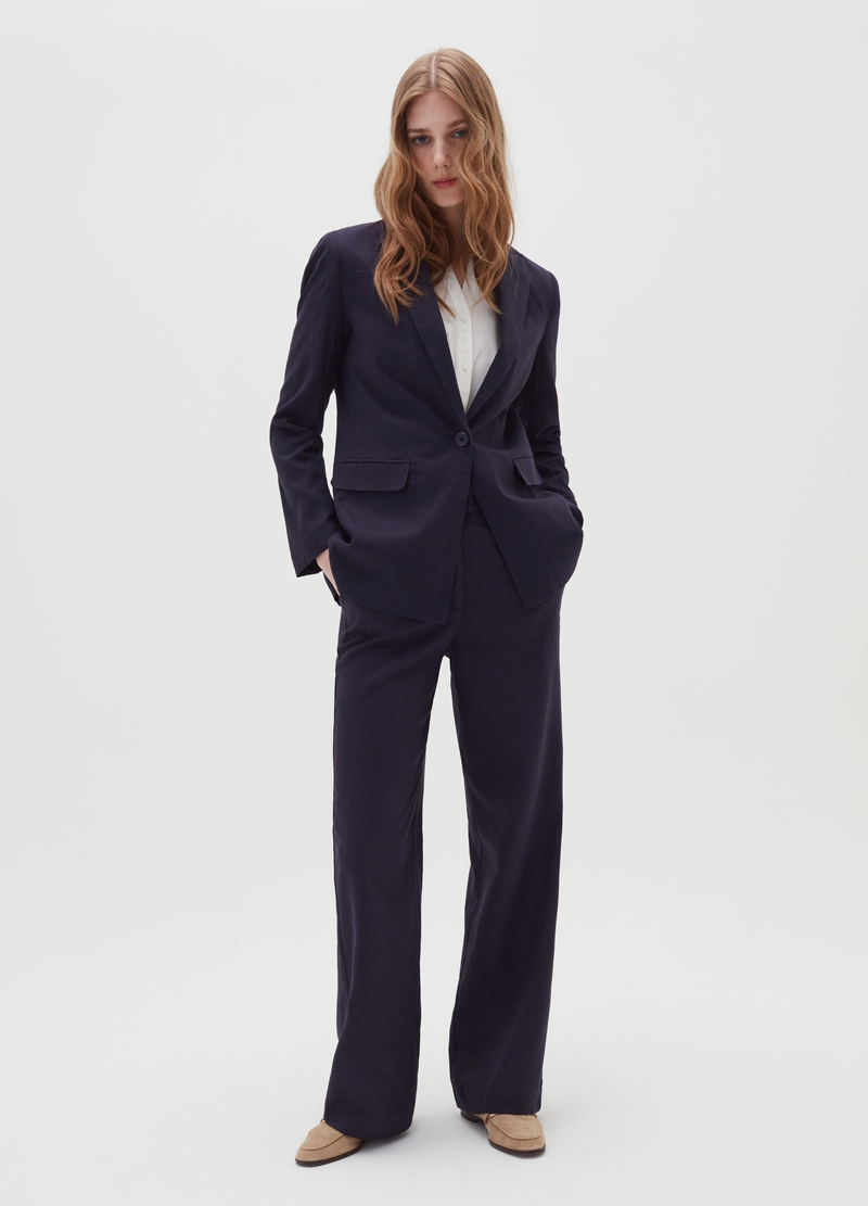 Blazer in linen and viscose image number null