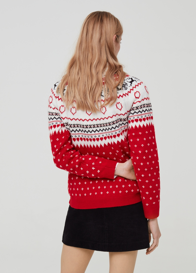 Christmas Jumper jacquard maniche raglan image number null