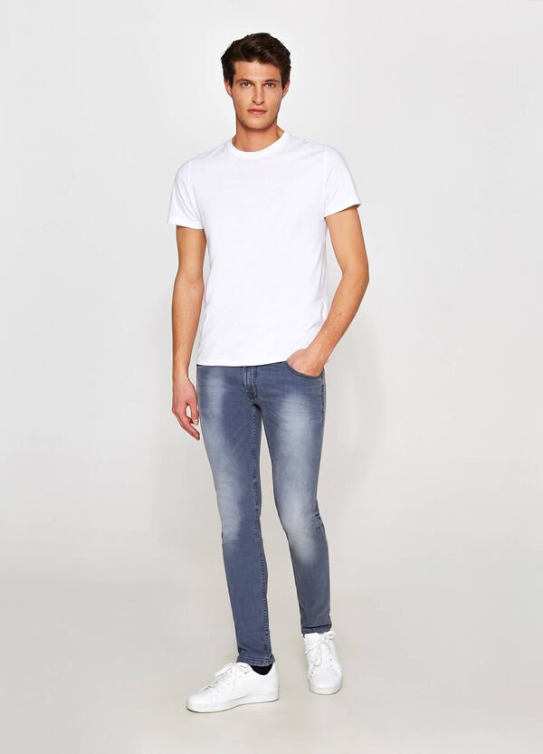 Jeans slim fit stretch effetto used