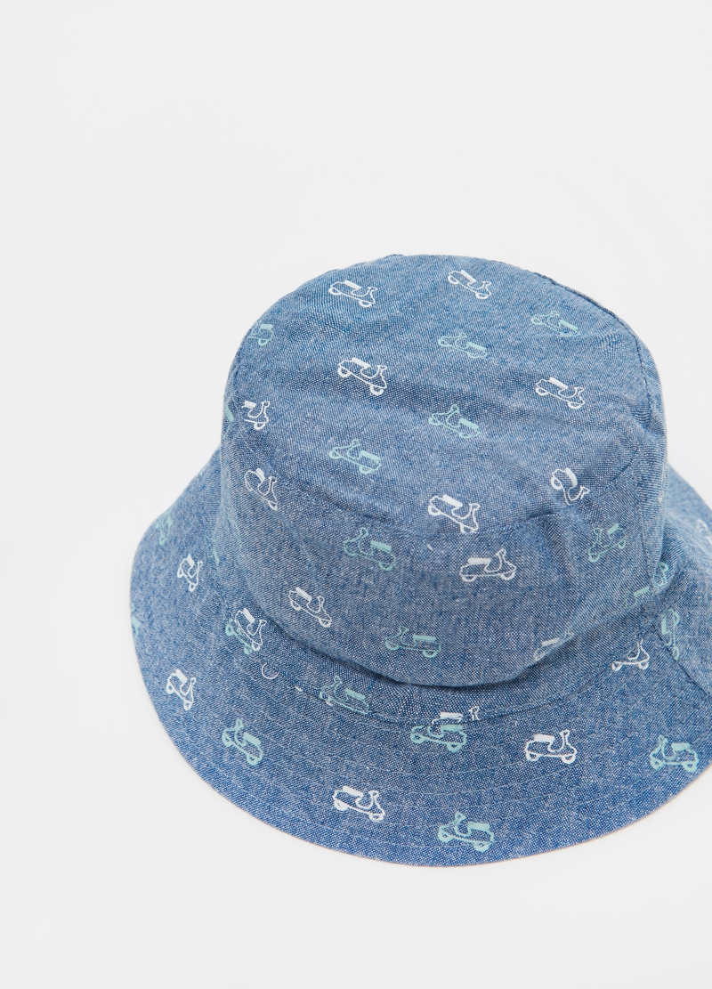 Fishing hat in patterned cotton image number null