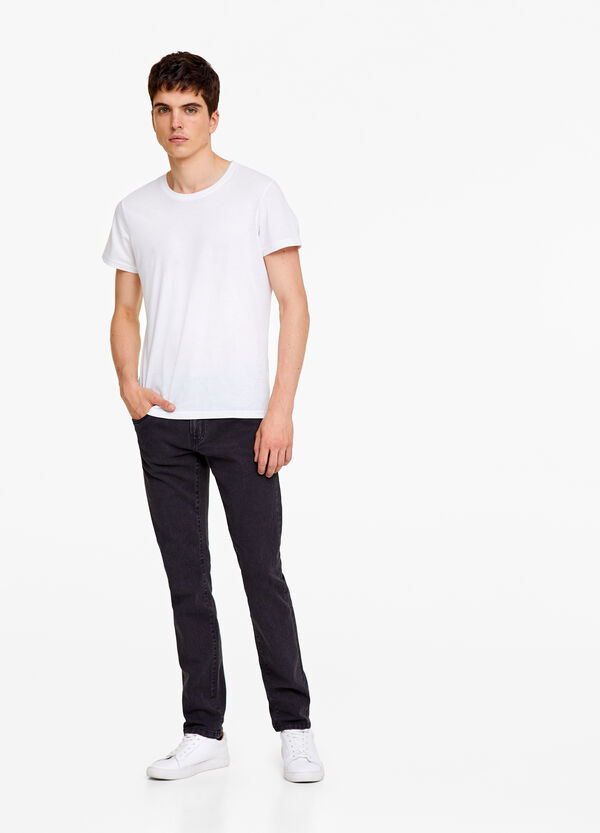 Skinny fit, rinse wash jeans