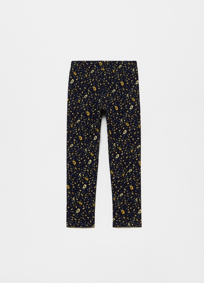 Leggings stretch stampa fiori all-over image number null