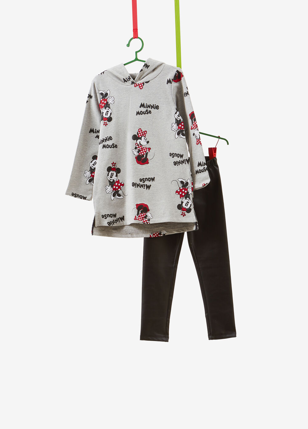 Stretch cotton tracksuit with Minnie Mouse pattern