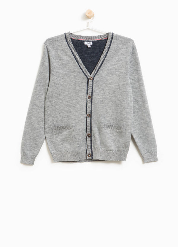 100% cotton cardigan with V neck | OVS