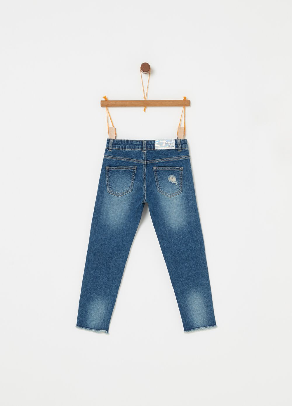 Jeans stretch superskinny effetto vintage