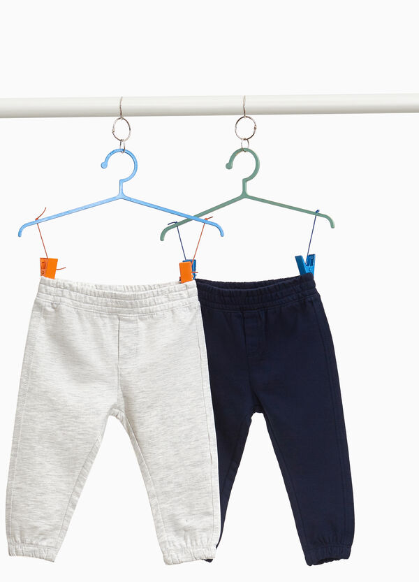 Two-pack joggers in 100% cotton