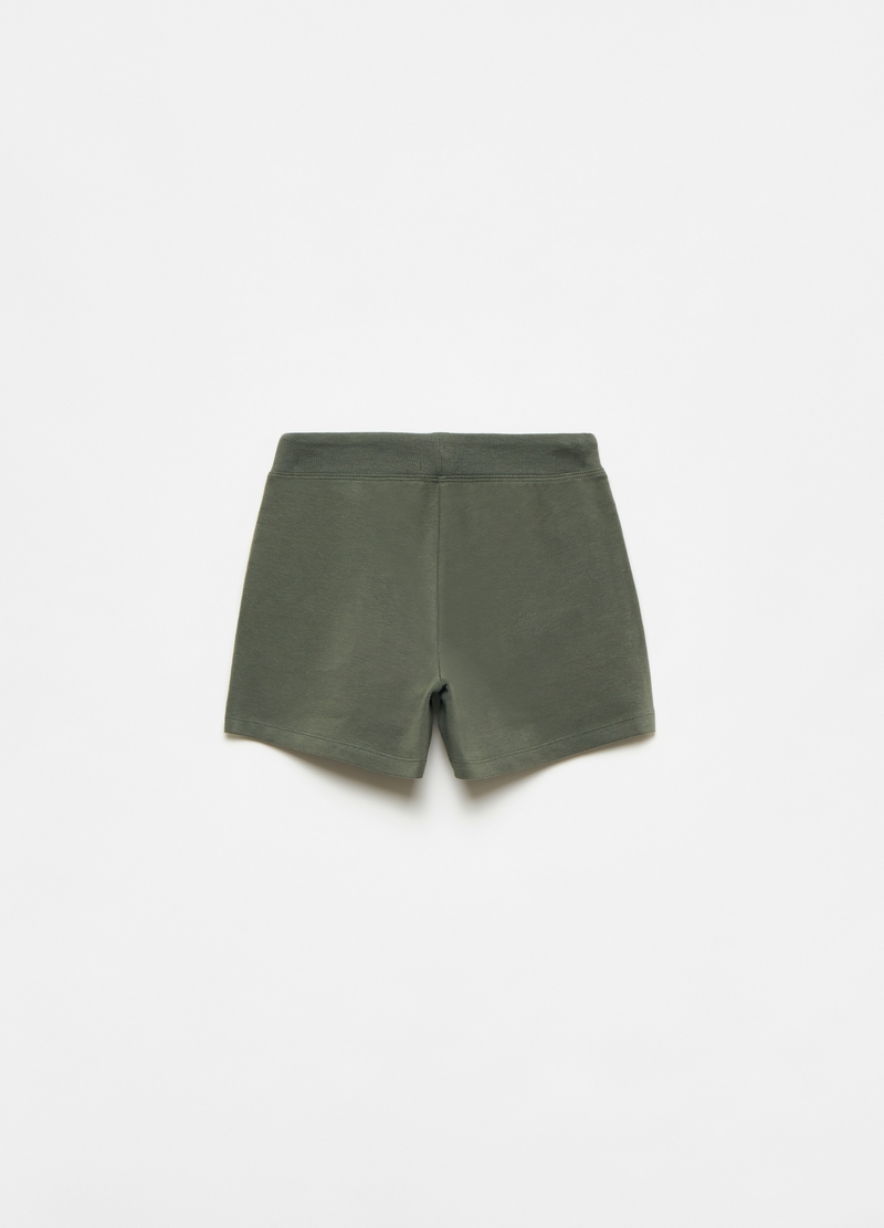 Stretch fleece shorts with drawstring image number null