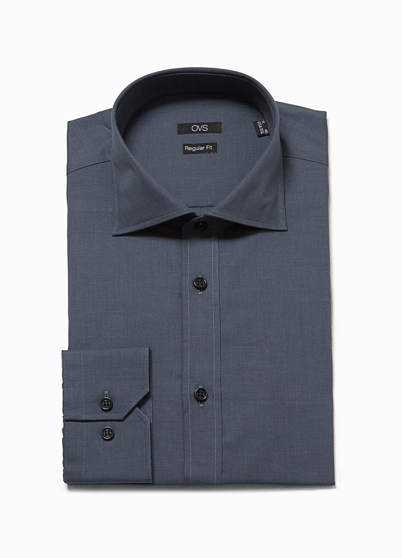 Camicia formale regular fit alla francese image number null