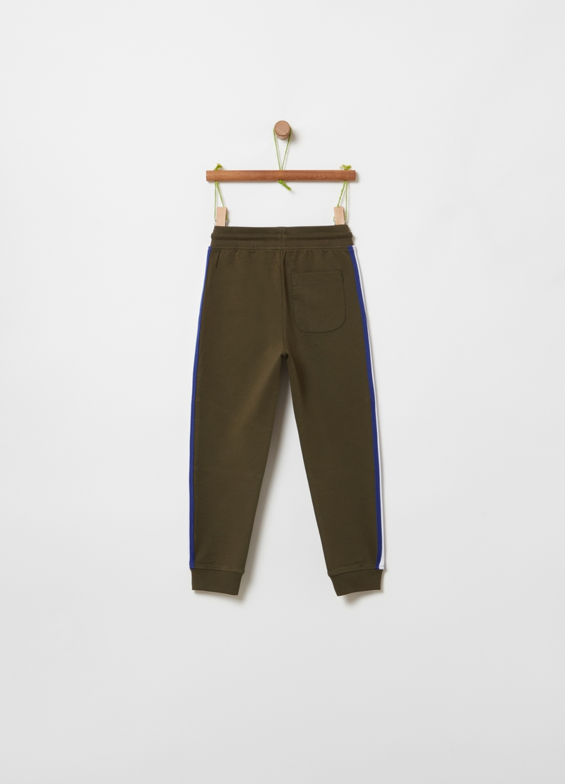 Joggers in cotone bio stretch image number null