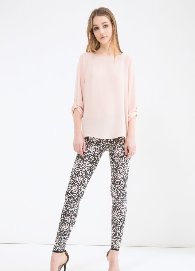 Stretch leggings with elastic waist band.