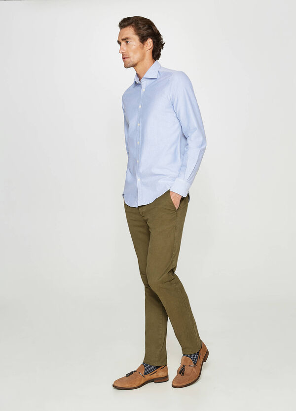 Rumford casual shirt with micro pattern