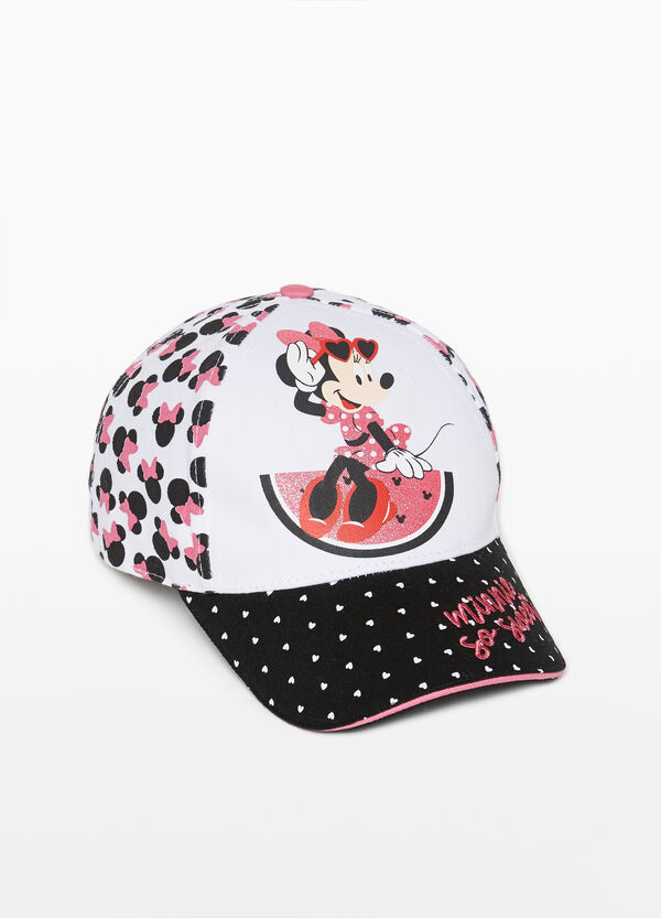 Baseball cap with Minnie Mouse pattern