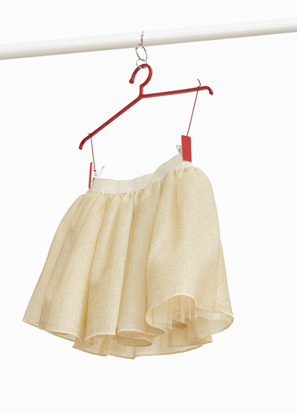 Glitter tulle skirt with pleats
