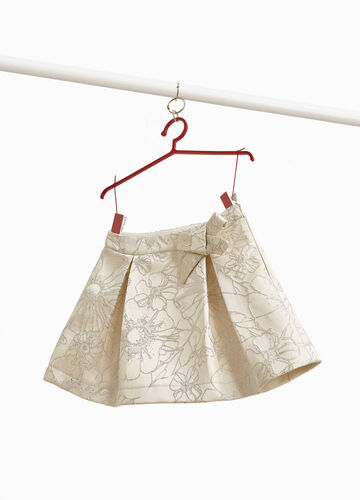 Floral jacquard skirt with lurex