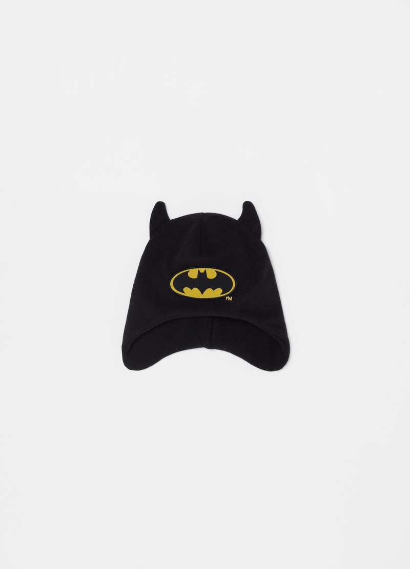 Fleece hat with Batman ears image number null
