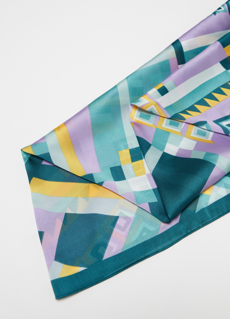 Very light satin scarf with print image number null