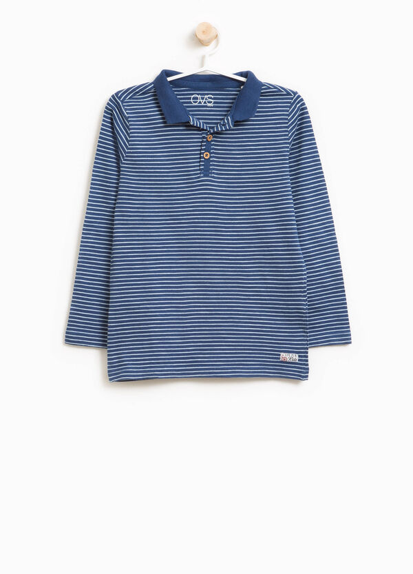 Striped pattern polo shirt in 100% cotton | OVS