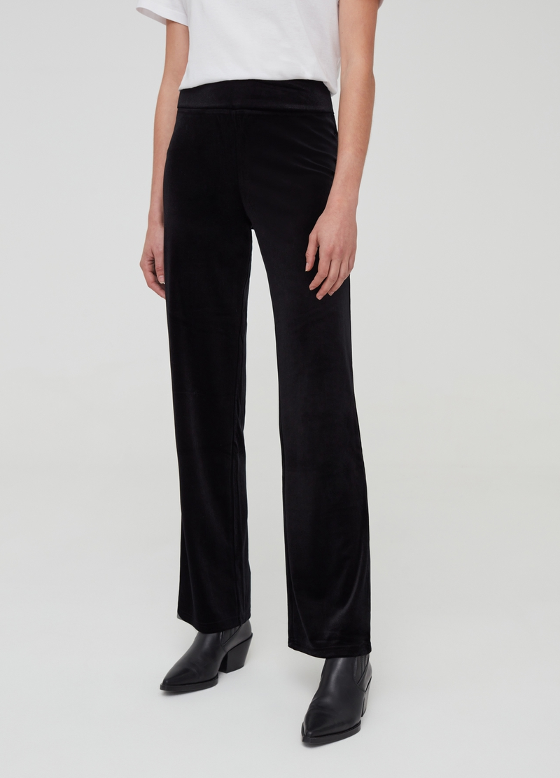 Leggings wide fit in velluto stretch image number null