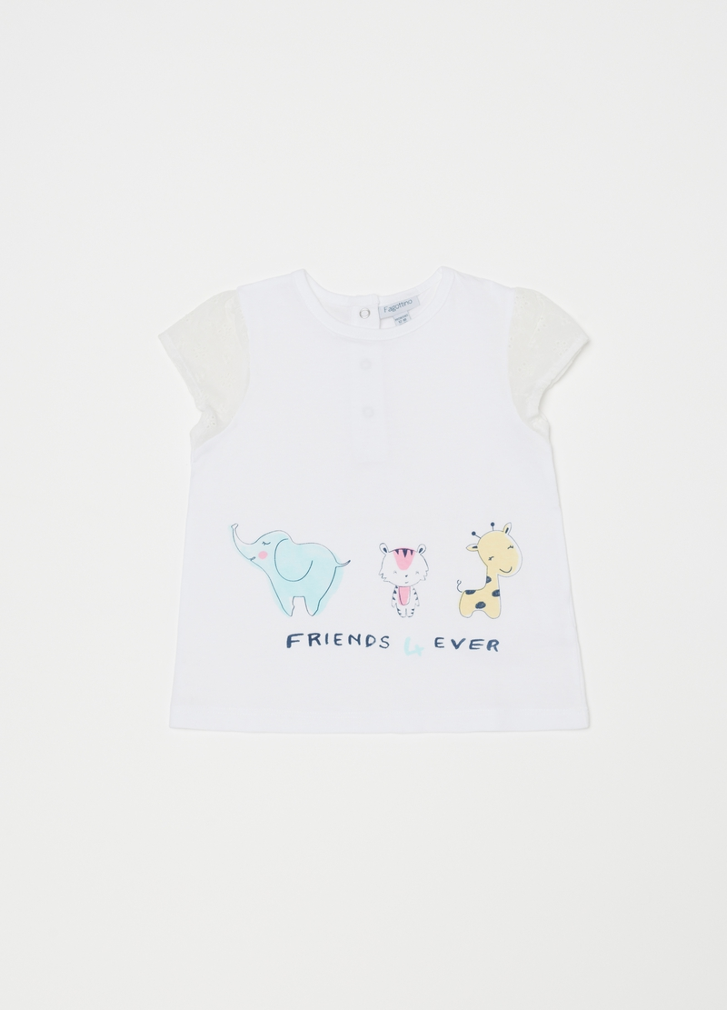 Short pyjamas with animal friends print image number null