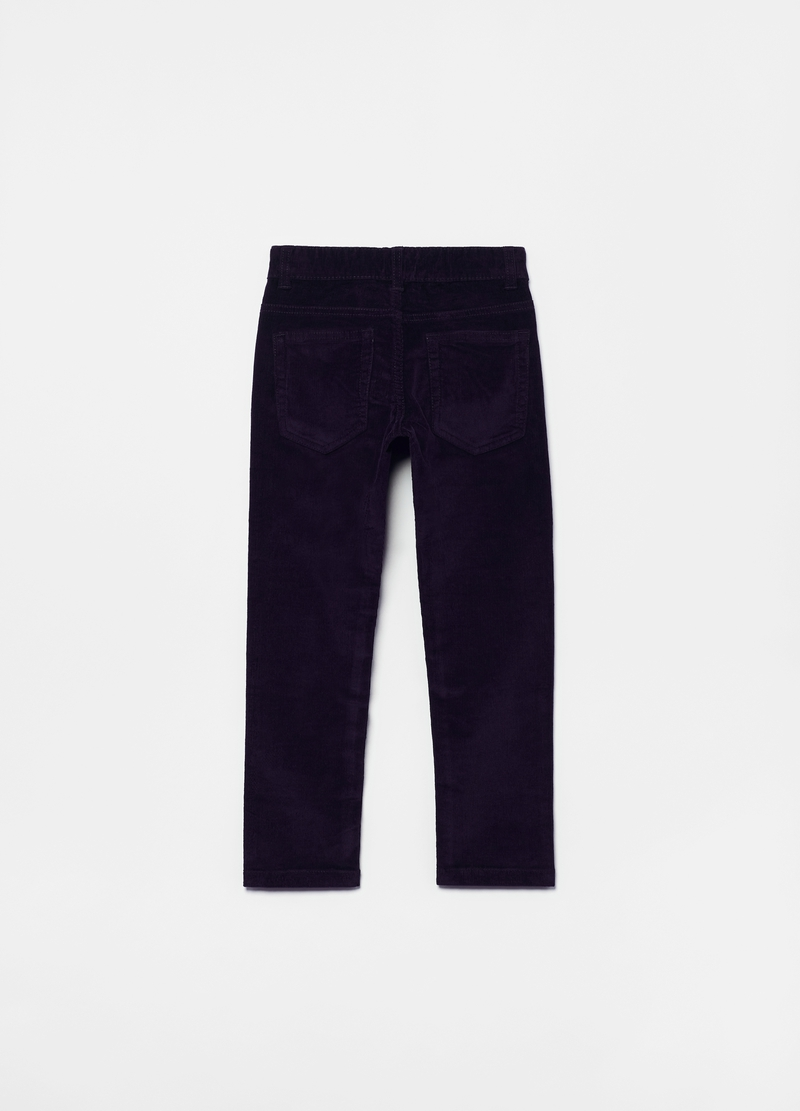Pantaloni in corduroy stretch cinque tasche image number null