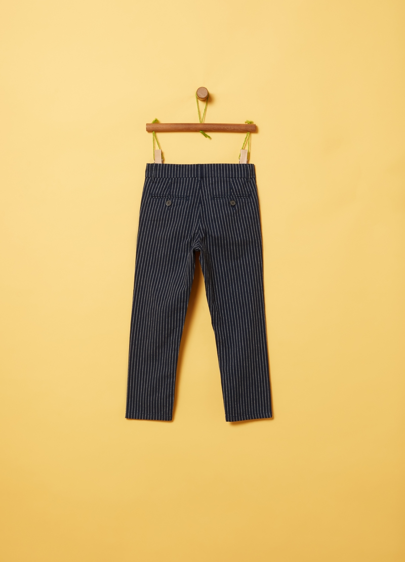 Trousers with striped pattern image number null