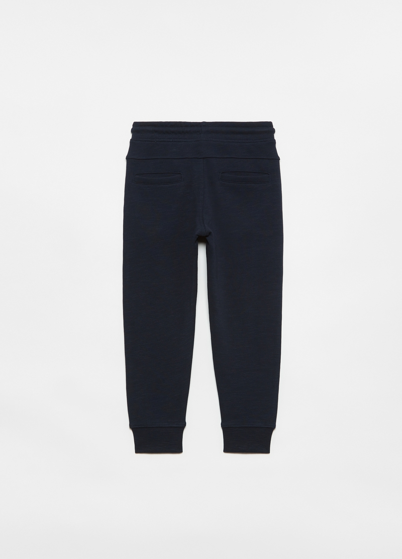 Joggers carrot fit in cotone slub image number null