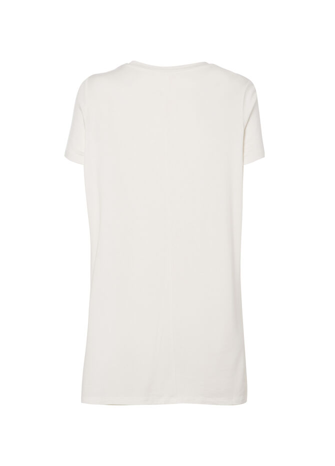 T-shirt lunga viscosa Smart Basic