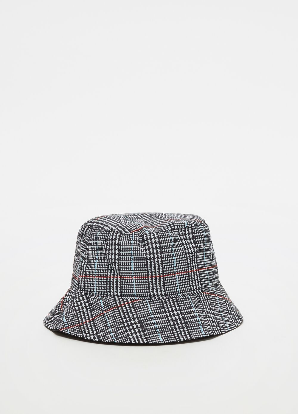 Rain hat with heritage check pattern