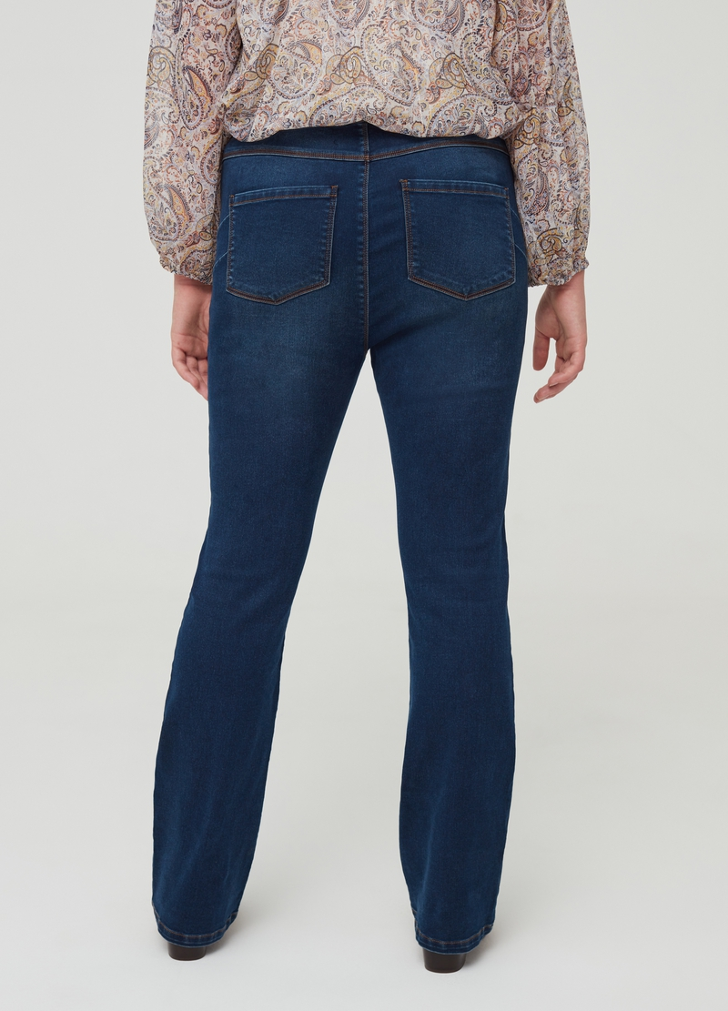 Curvy stretch cotton jeans with five pockets image number null
