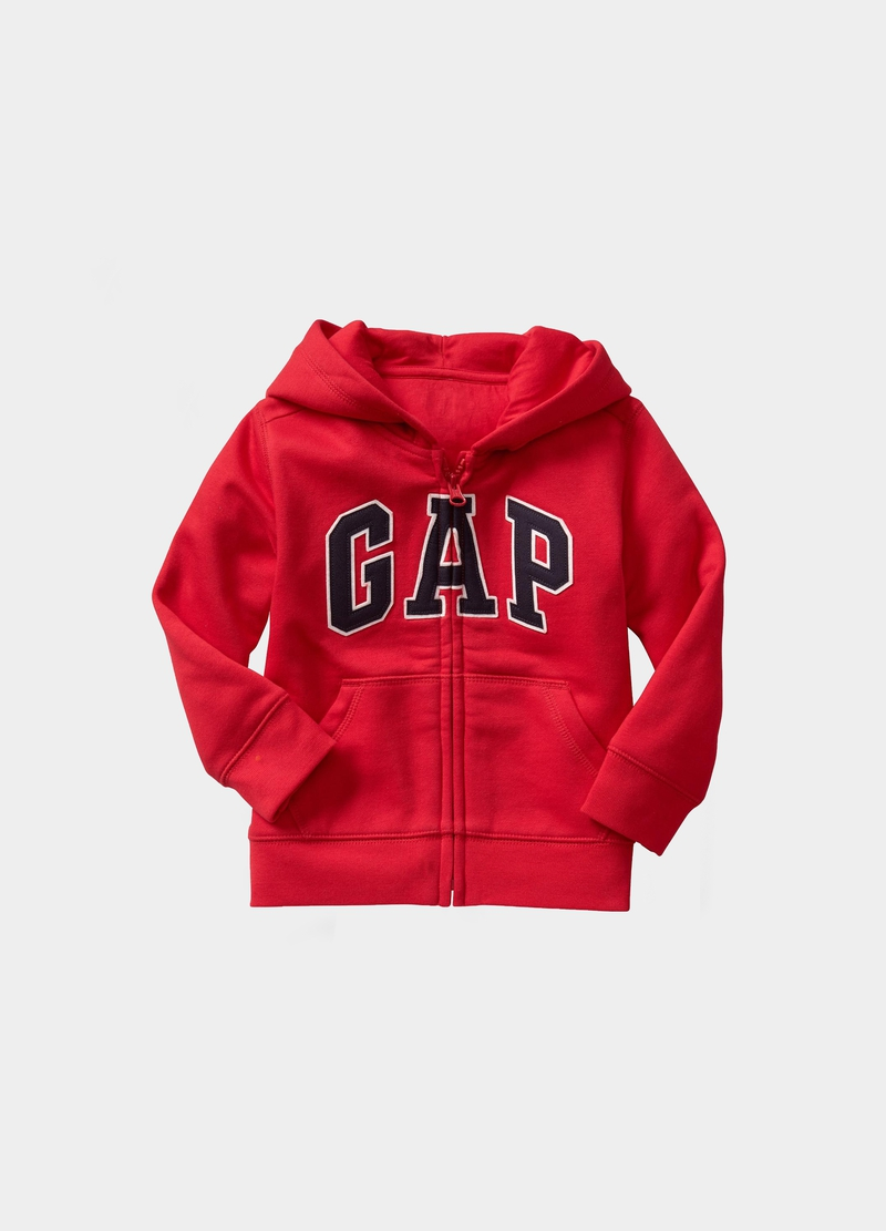 GAP full-zip fleece sweatshirt with logo embroidery image number null