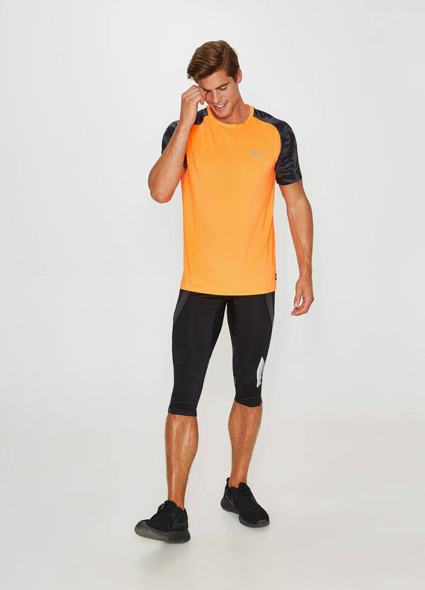 Stretch T-shirt with Everlast print and pattern | OVS