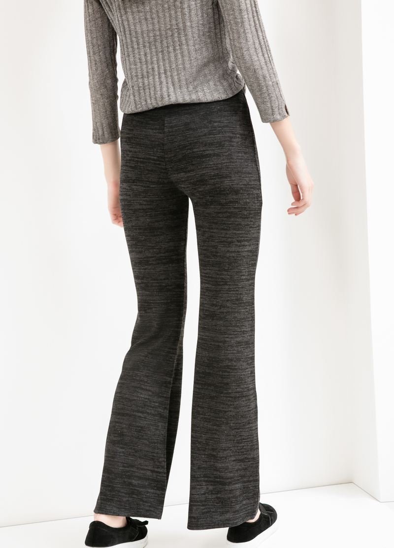 Stretch viscose bell-bottom trousers image number null