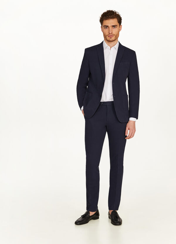 Elegant slim-fit stretch cotton jacket