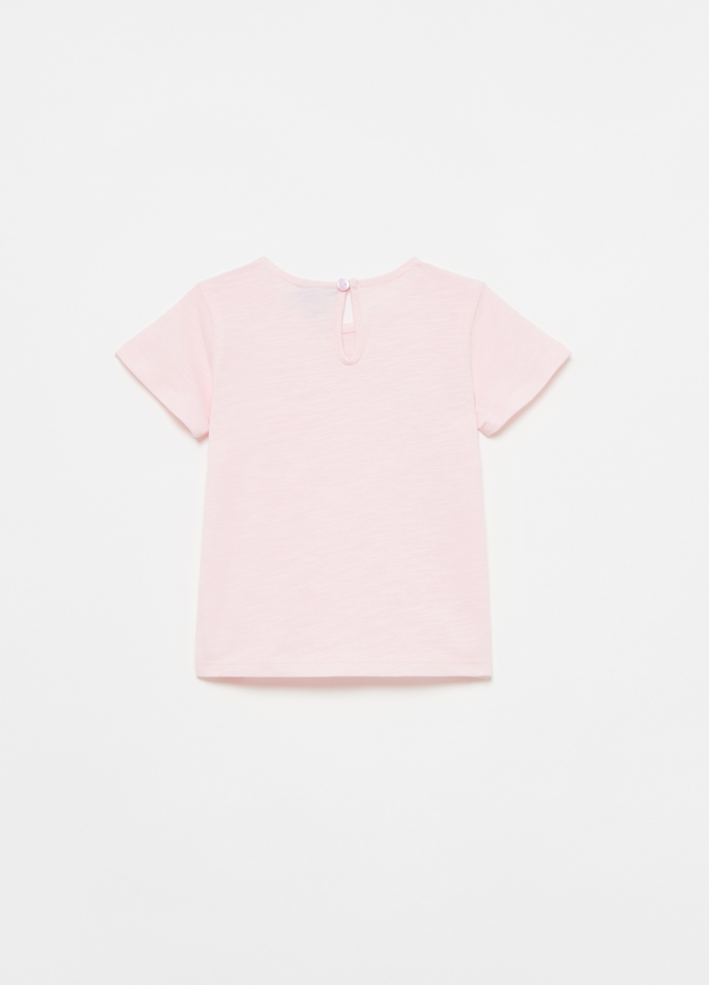 T-shirt in cotone slub con stampa lettering image number null