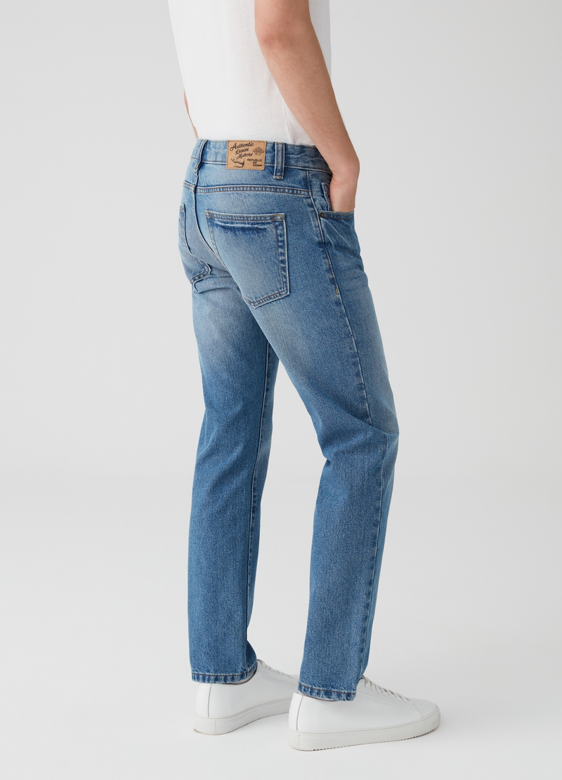 Jeans straight fit lavaggio effetto vintage image number null