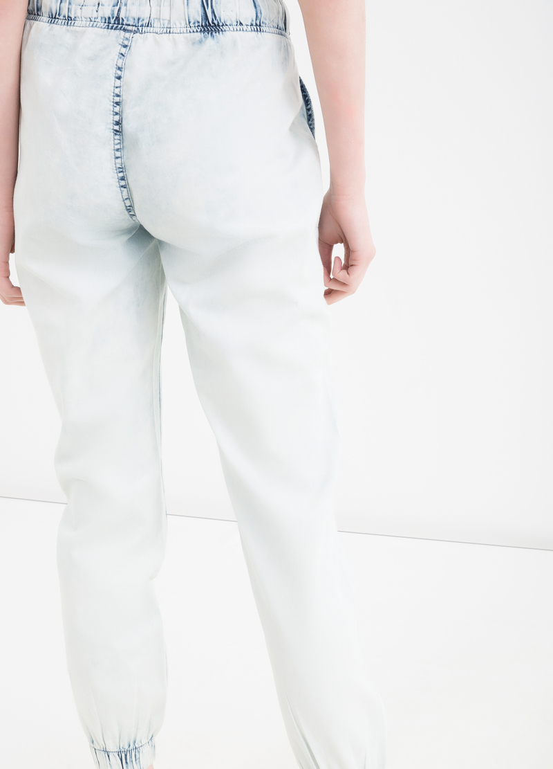 Regular fit jeans with drawstring image number null