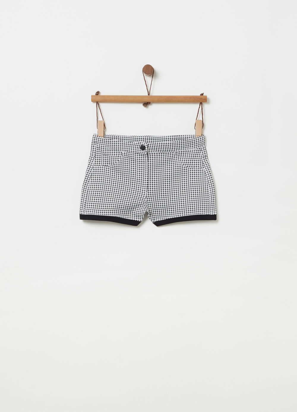 French Terry shorts with snap button