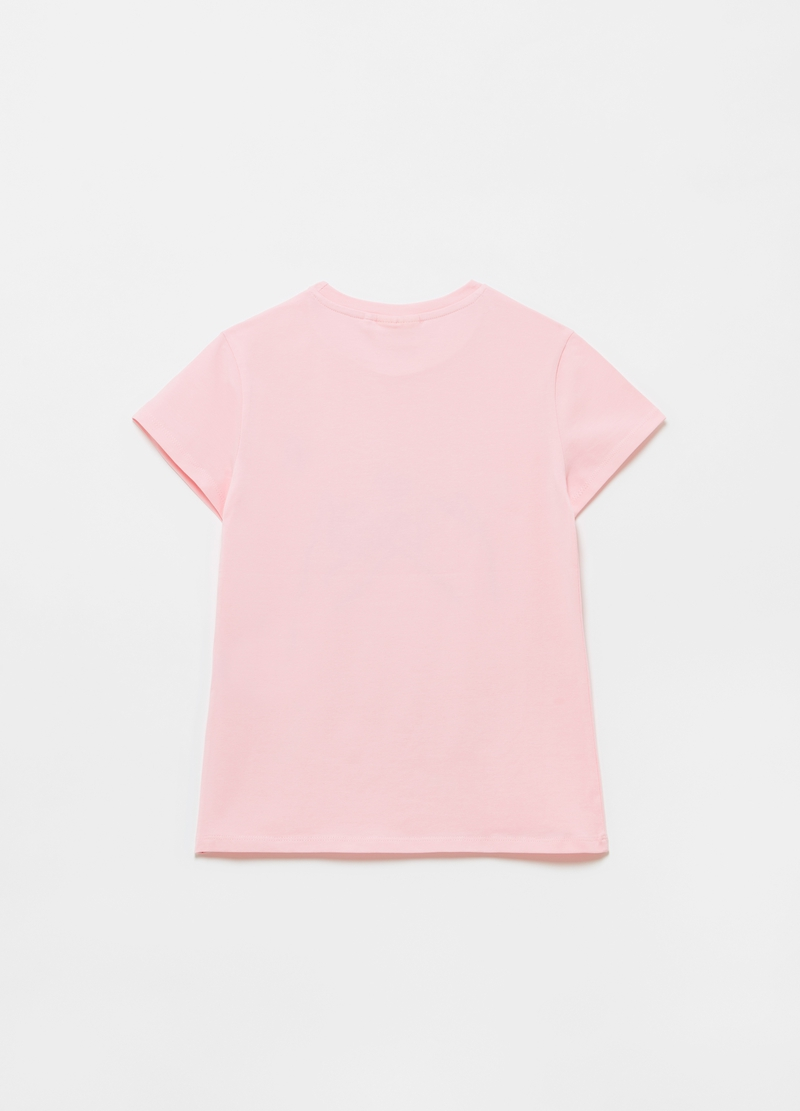 T-shirt with print and small glitter heart image number null