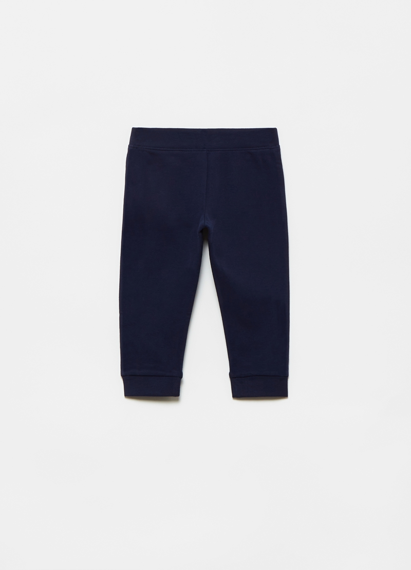 Joggers in cotone bio stretch stampa image number null
