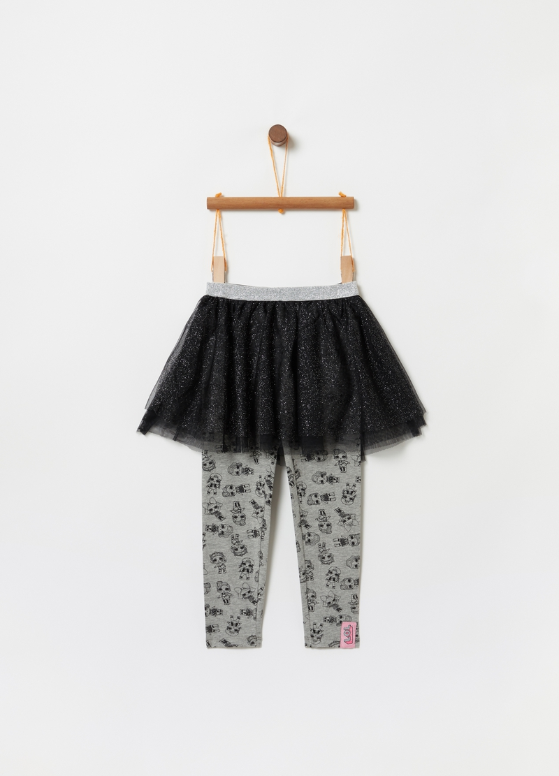 Leggings con gonna in tulle glitter LOL image number null