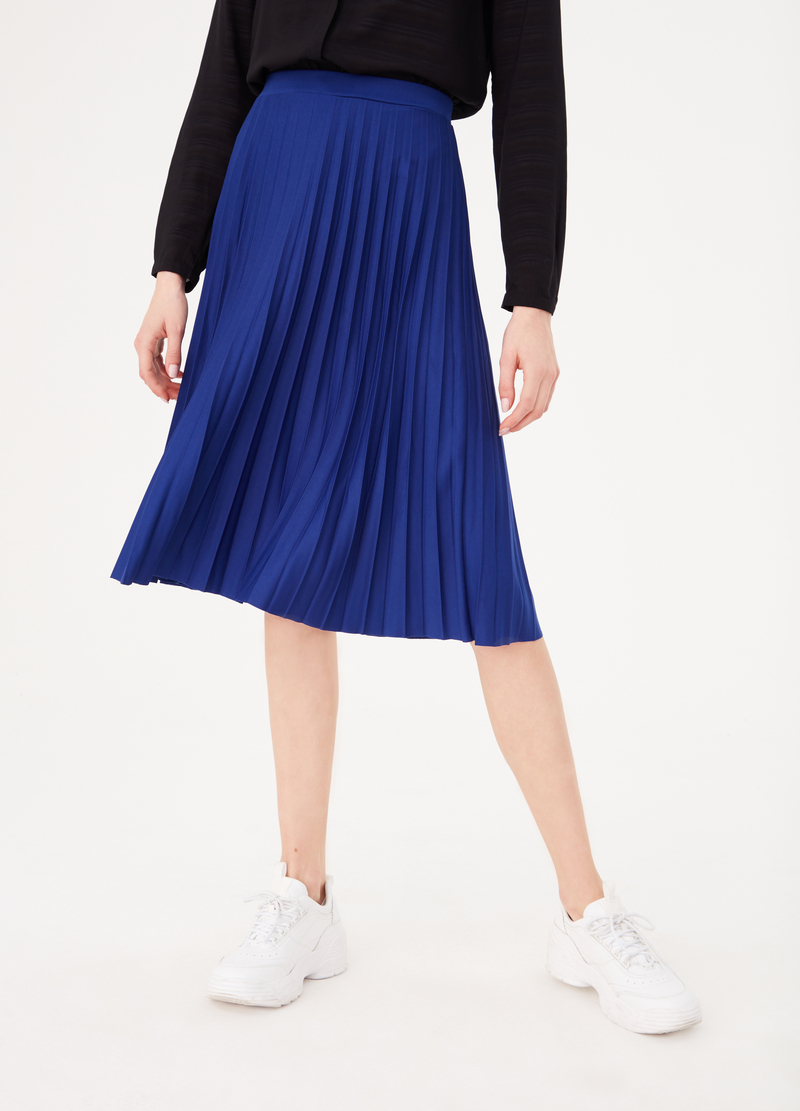 Pleated jersey skirt image number null