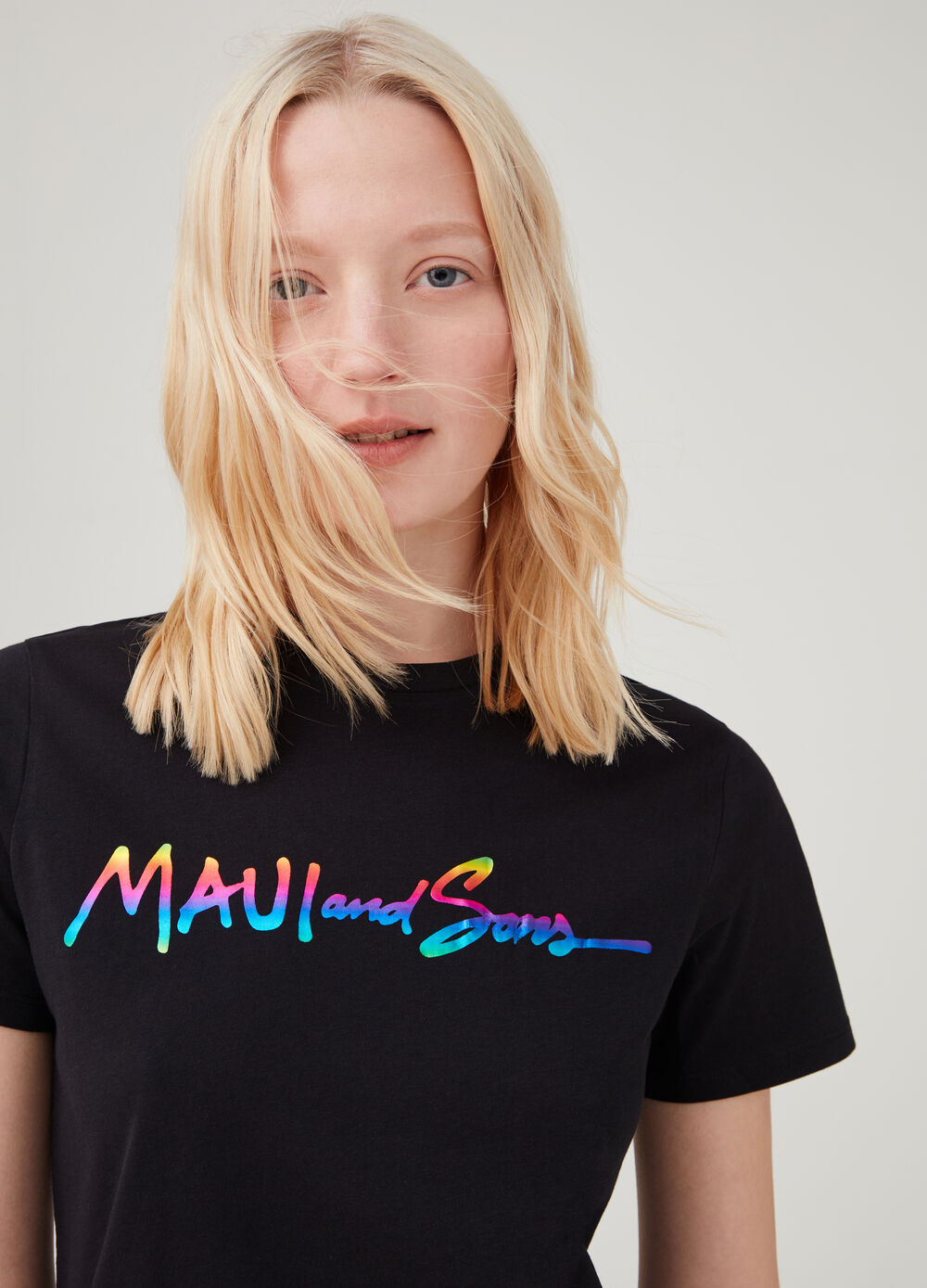 T-shirt with Maui and Sons print