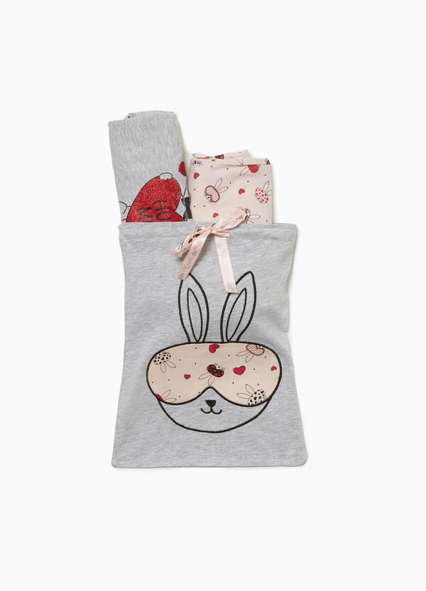 Cotton and viscose rabbit pyjamas