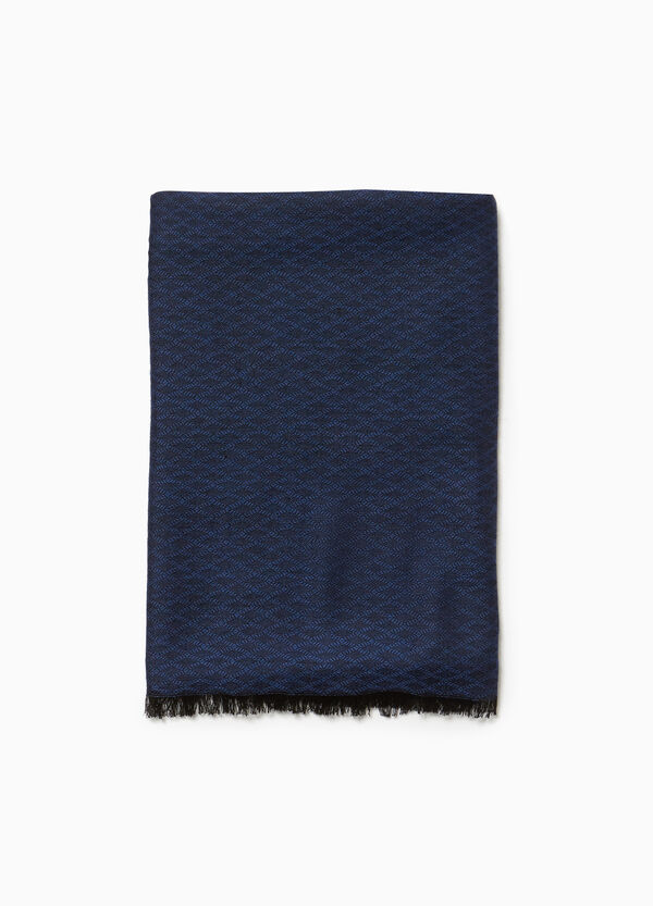 Viscose scarf with diamond weave