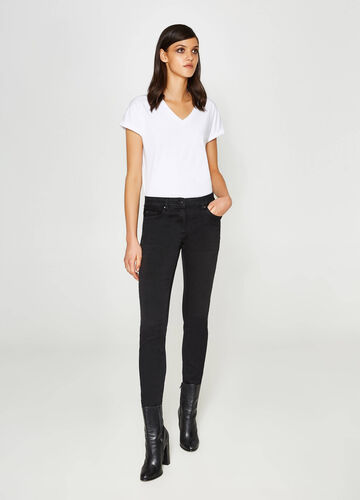 Jeans slim fit stretch con pizzo