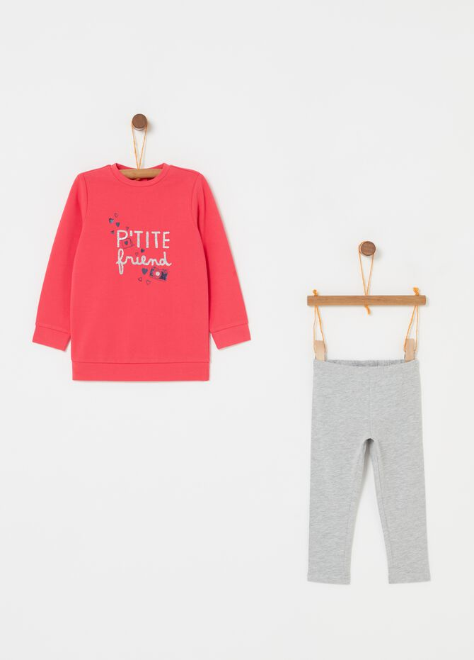Jogging set in biocotton e glitter