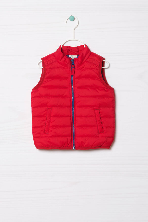 Quilted waistcoat lined in contrasting colour | OVS