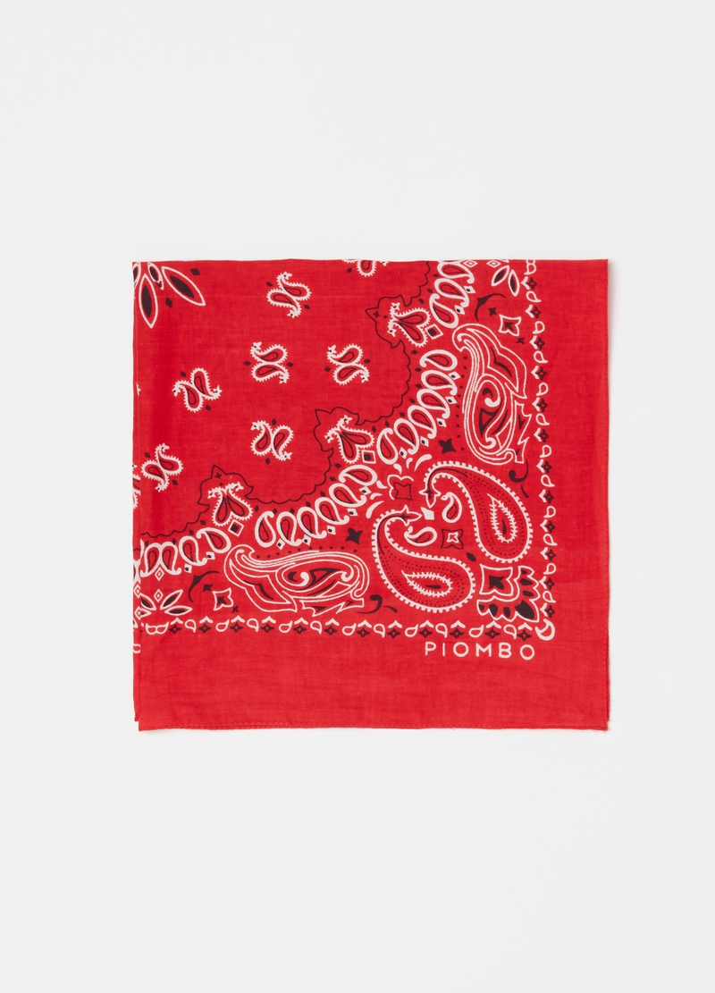 PIOMBO cotton paisley foulard image number null