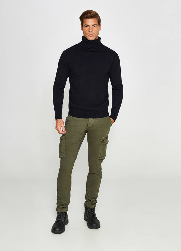 Pantaloni chino stretch cargo