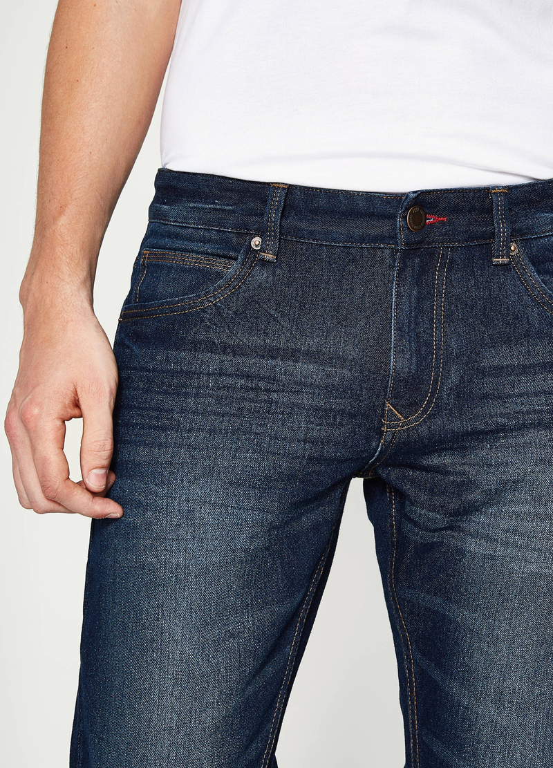 Jeans slim fit con baffature image number null